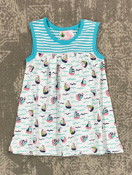Lily Pads Carribbean Sailboat Sleeveless Dress