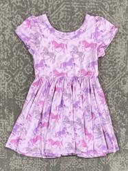 Charlies Project Pastel Unicorn Twirl Dress
