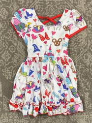 Charlies Project Mini Parks Cross Back Twirl Dress