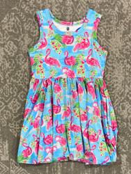 Charlies Project Flamingo Sleeveless Twirl Dress