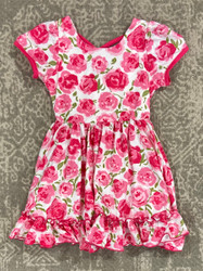Charlies Project Watercolor Rose Twirl Dress
