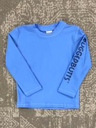 Ruffle Butts Blue Long Sleeve Rashguard