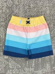 Ruffle Butts Island Stripe Swim Trunks