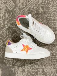 Mia White Rainbow Star Sneaker