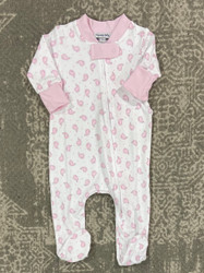 Magnolia Baby Pink Tiny Whale Zipper Footie