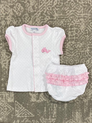 Magnolia Baby Pink Tiny Whale Diaper Cover Set