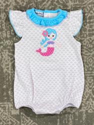 Magnolia Baby Little Mermaid Applique Bubble