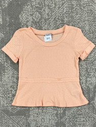 For All Seasons Peach Knit S/S Top
