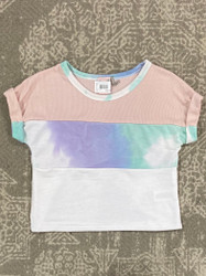 For All Seasons Blush Multi Colorblock Tee