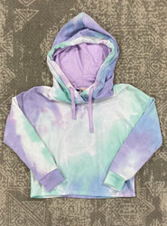 For All Seasons Purple Tie Dye French Terry Hoodie