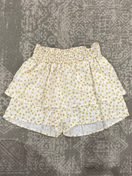 For All Seasons Ivory/Yellow Ditsy Floral Skirt