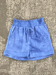 For All Seasons Blue Tie Dye Terry Shorts