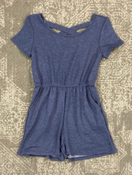 For All Seasons Navy Terry Romper