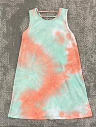 For All Seasons Tie Dye Burnout Swing Dress