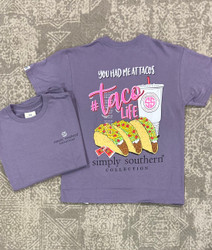 Simply Southern Plum TacoLife YOUTH T-Shirt