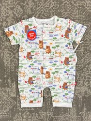 Magnificent Baby BBQ Bears Magnetic Romper