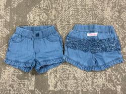 Ruffle Butts Light Wash Denim Shorts