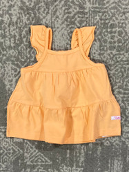 Ruffle Butts Melon Tiered Tank Top