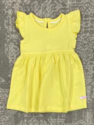 Ruffle Butts Lemon Flutter Dress