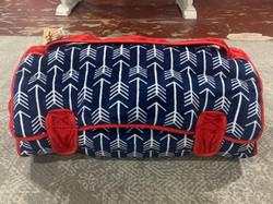 Ozark Mountain Navy/Red Arrow Print Plush Nap Mat