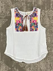 Hayden White Embroidered Top