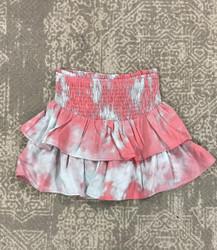 Hayden Pink/Mint Smocked Waist Skort