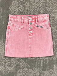 Tractr Pink Denim Skirt