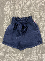 Hayden Blue Acid Wash Belted Short