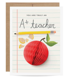 A+ Teacher Pop Up Card