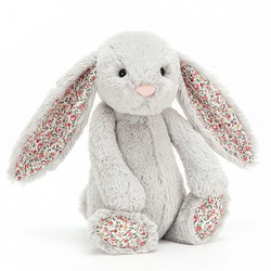 Jelly Cat Medium Bashful Blossom Silver Bunny