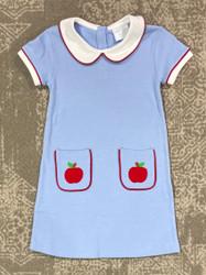 Little English Libby Apple Applique Dress