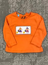 Anavini Orange Witches SmockedTee
