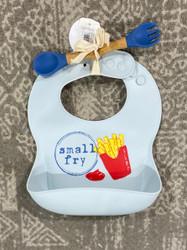 MudPie Fries Silicon Bib & Spoon