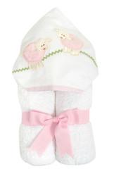 3 Marthas Pink Lamb Applique Everykid Towel