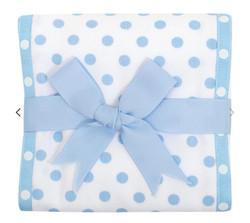 3 Marthas Blue Puppy Fabric Burp Cloth