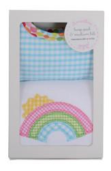 3 Marthas Rainbow Burp/Bib Box Set