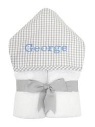 3 Marthas Gray Check Everykid Towel