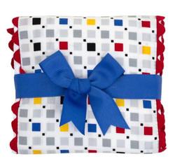 3 Marthas Choo Choo Fancy Fabric Burp Pad