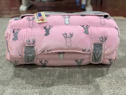 Ozark Mountain Pink Deer Plush Nap Mat