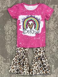 Be Kind Rainbow Ruffle Pant Set