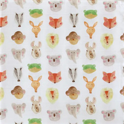 Muslin Swaddle Blanket- Animals