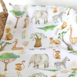 Muslin Swaddle Blanket- African Safari