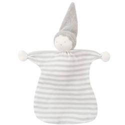Grey Stripe Sleeping Doll Lovey