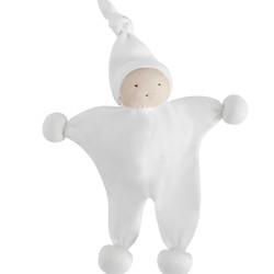 White Baby Buddy Lovey Toy