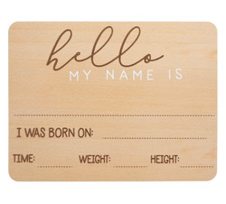 Fill In Baby Arrival Milestone Photo Prop