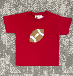 Lily Pads Red Football Applique Tee