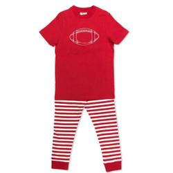 Honey Bee Tees Red Football Pajamas