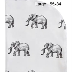 Organic Elephant 55x34 Blanket