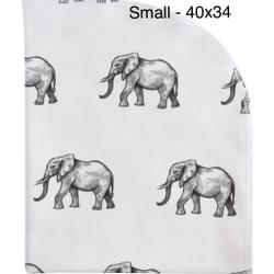 Organic Elephant 40x34 Blanket