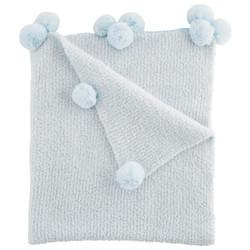 Mud Pie Blue Chenille Blanket